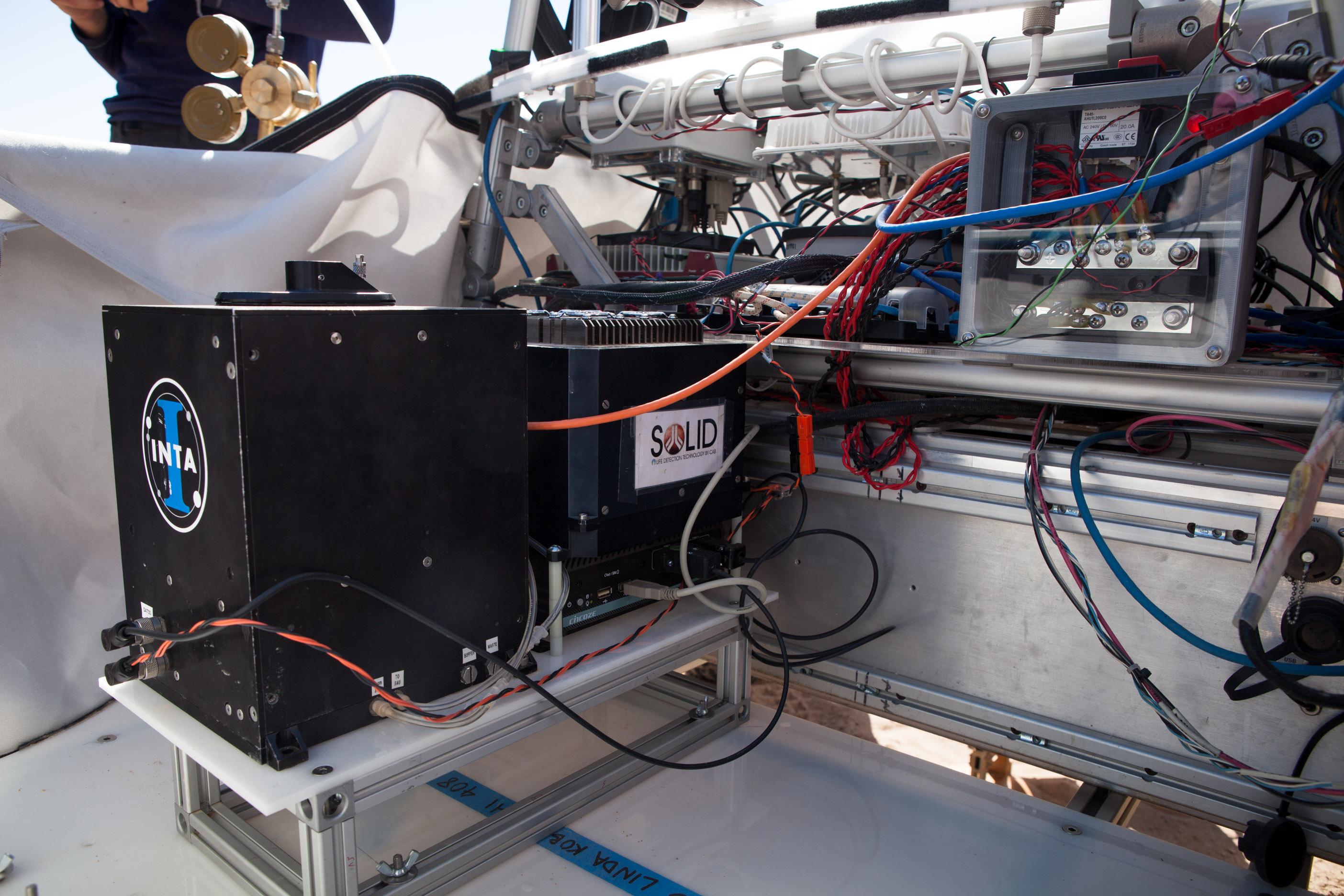 SOLID en plataforma del rover krex2