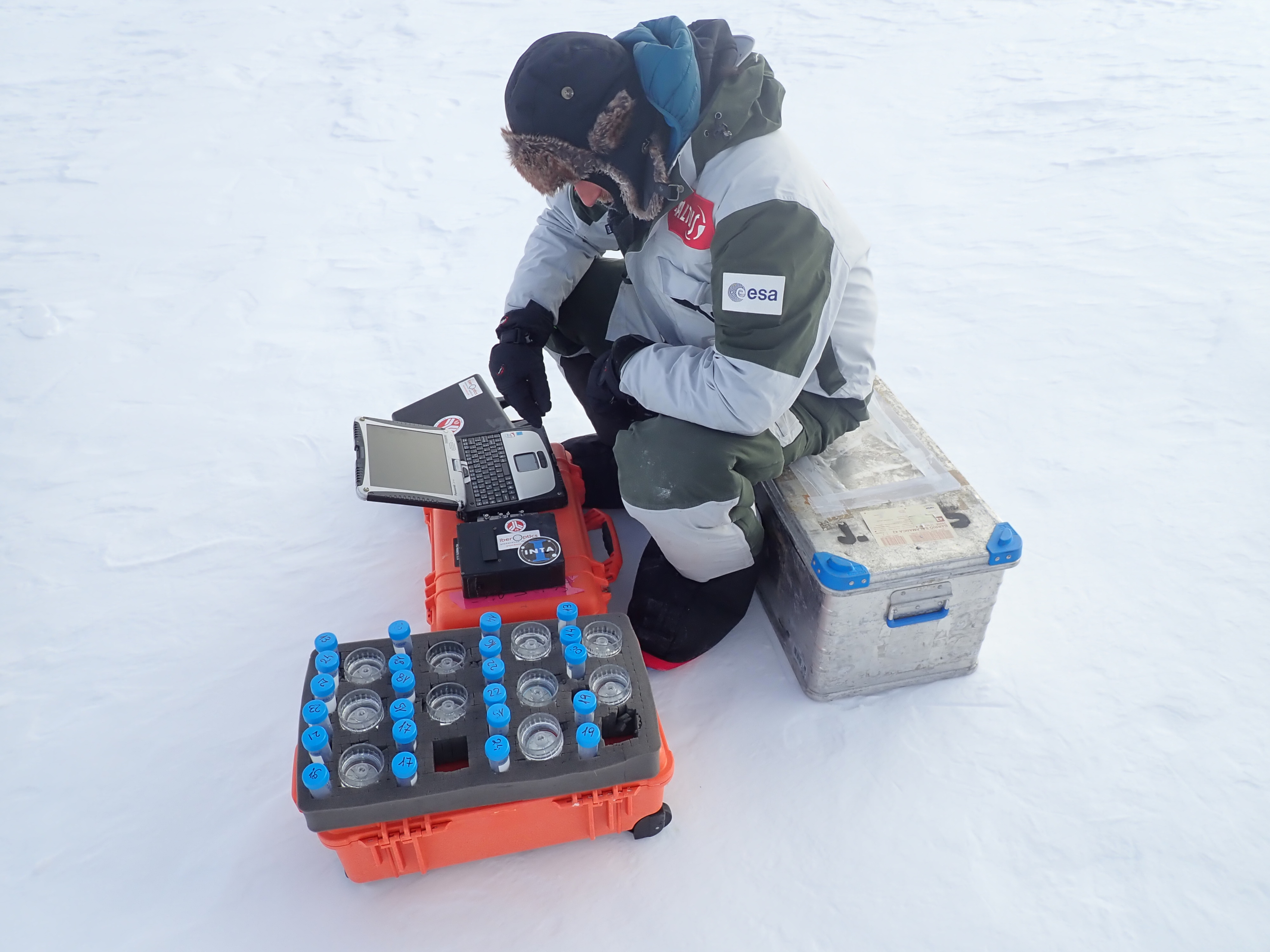Analyzing samples in Antarctica